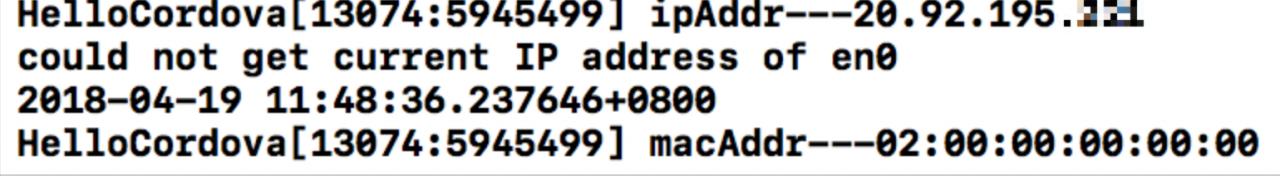 ios获取设备IP地址Mac地址