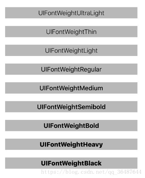 iOS UILabel字体设置