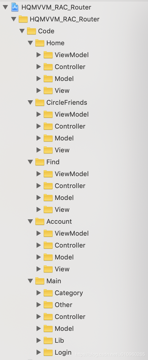 iOS  搭建App框架(MVVM+RAC+路由)