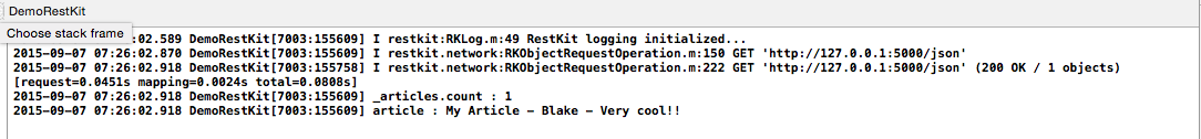 iOS使用RestKit与RESTful web服务器进行简单交互