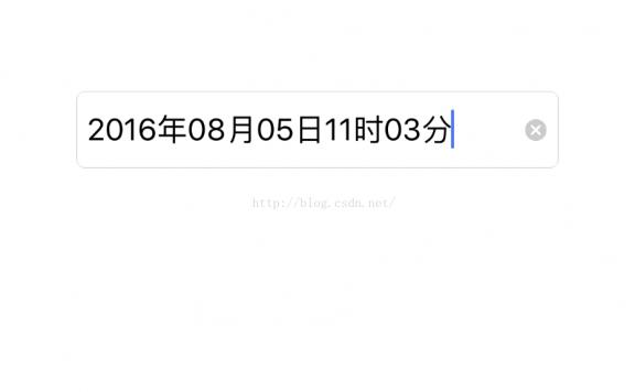 iOS系统自带日期挑选框UIDatePicker