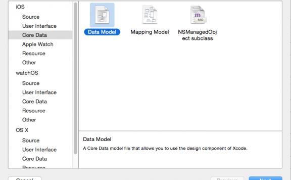 iOS中CoreData数据管理系列一——初识CoreData